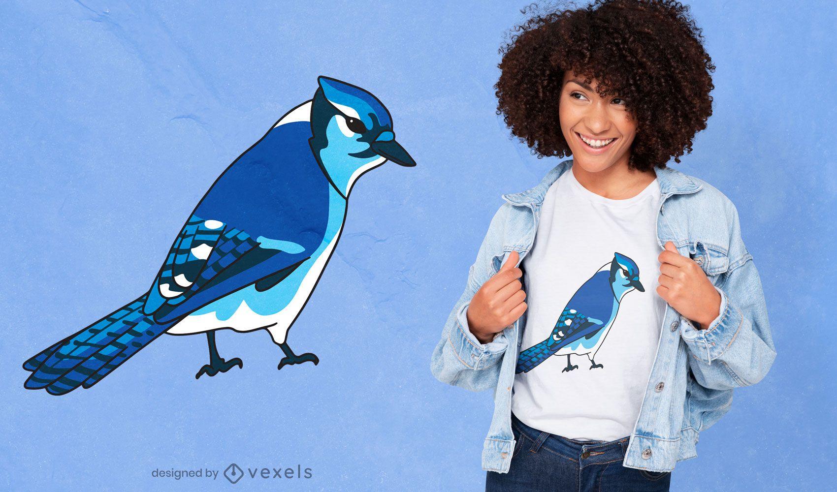 Blue jay bird species t-shirt design