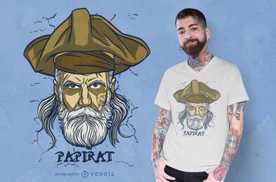 Pirate dad german wordplay t-shirt design