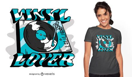 Vinyl record player quote t-shirt design