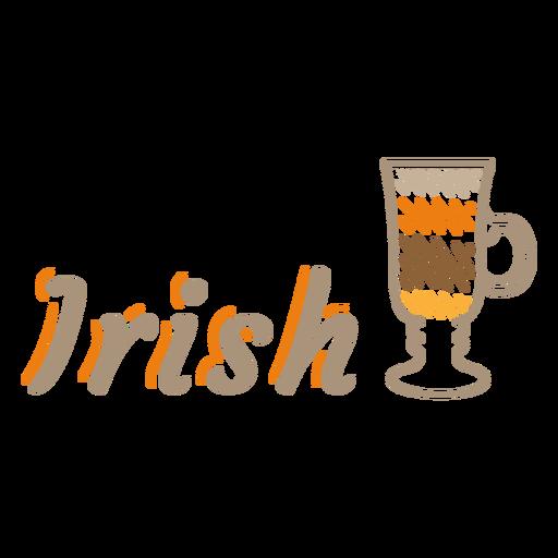 Irish coffee label stroke