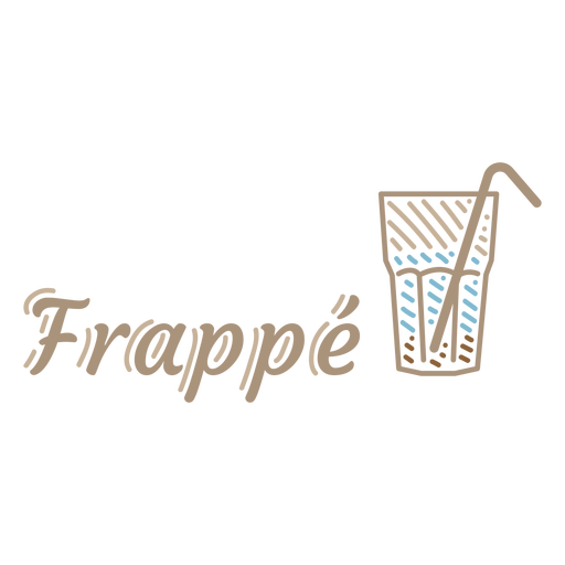 Frappe coffee drink badge