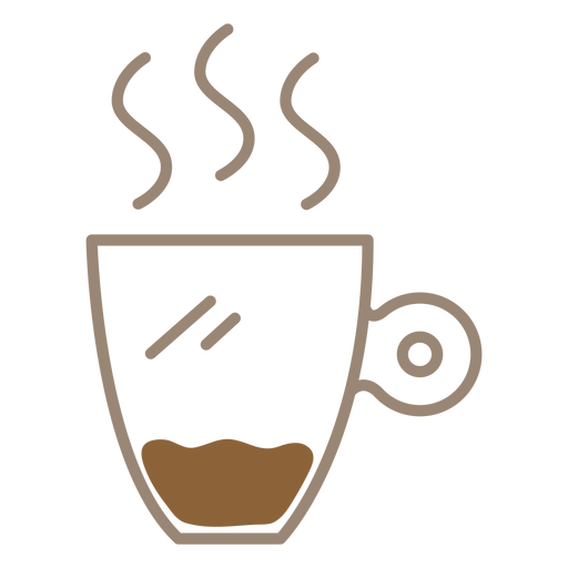 Coffee mug color stroke