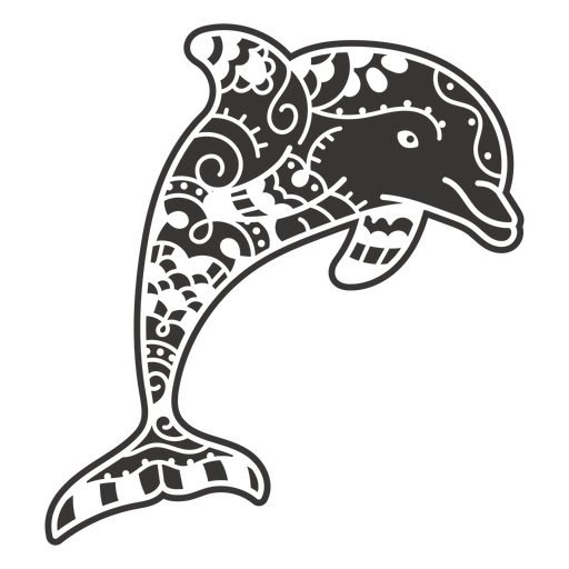 Dolphin sea animal mandala