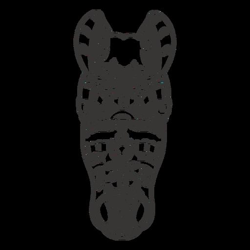 Horse head animal mandala