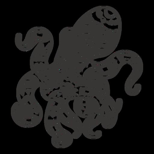 Octopus sea animal mandala