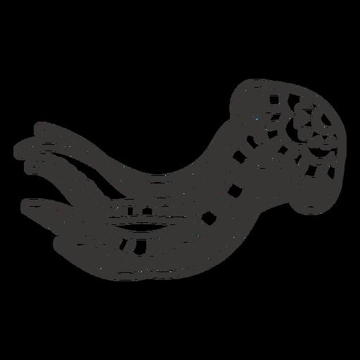 Jellyfish sea animal mandala