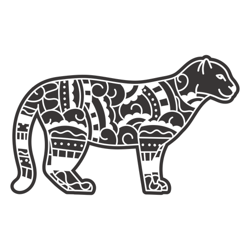 Wild cat animal mandala