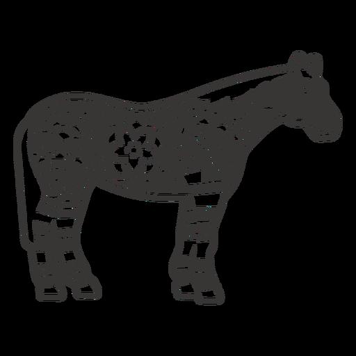 Horse side view mandala