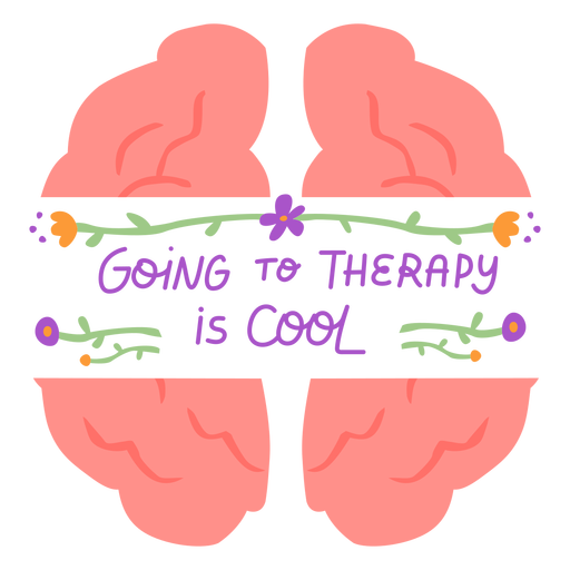 Going to therapy is cool flat