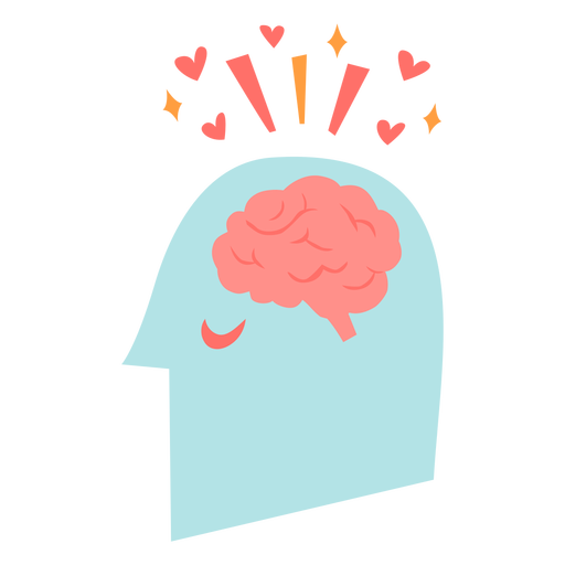 Head with brain flat