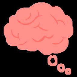 Thinking brain flat