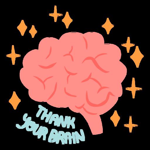 Thank your brain flat