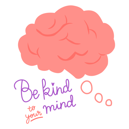 Be kind to your mind color flat