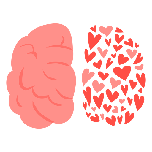 Brain hearts flat