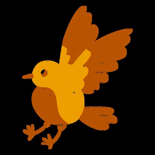 Sparrow fliying cut out