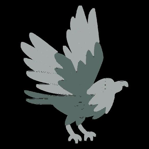 Landing eagle cut out