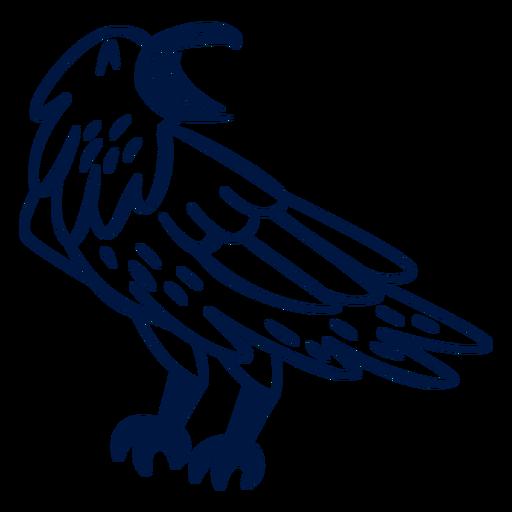 Happy eagle filled stroke