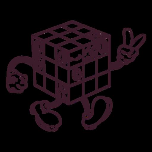 Rubiks cube filled stroke
