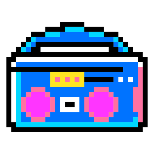 Boombox pixel art