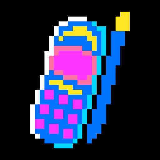 80er Jahre PixelArt + Neon Elements - 8