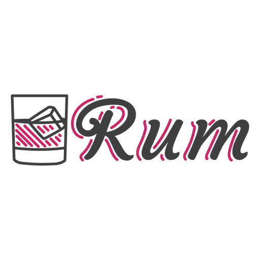 Rum alcoholic drink badge