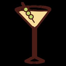 Dry martini color stroke