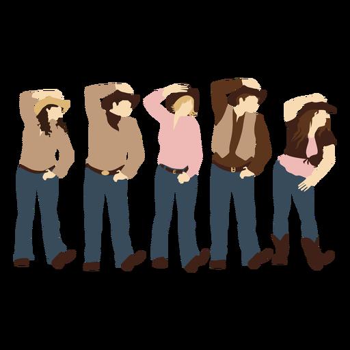 Cowboys dance flat