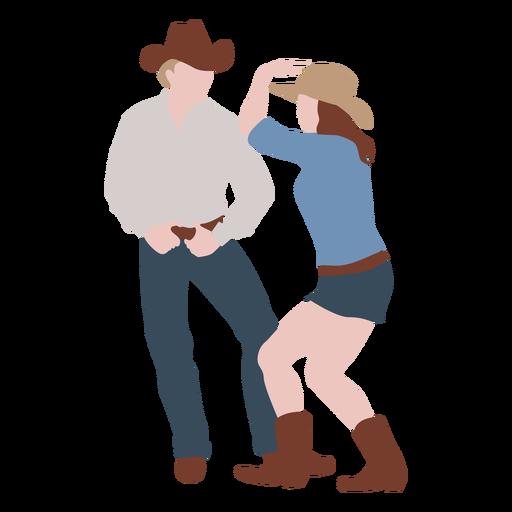 Cowboys dancing flat