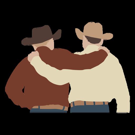 Cowboys hugging flat