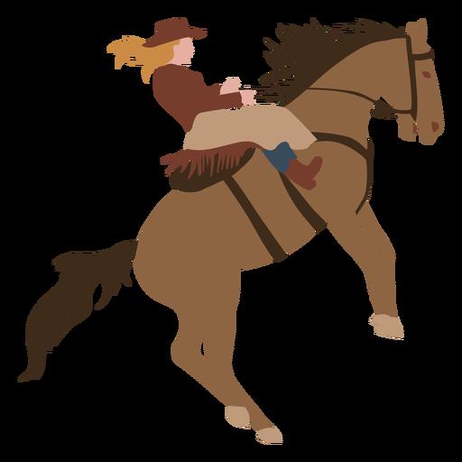 Cowboy horse riding flat
