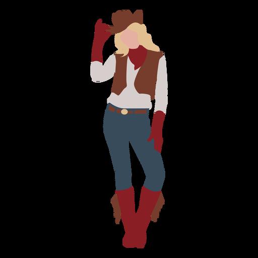 Cowgirl posing flat