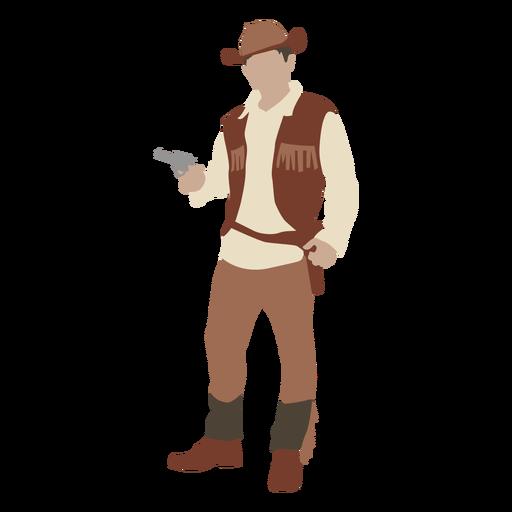 Cowboy with gun flat