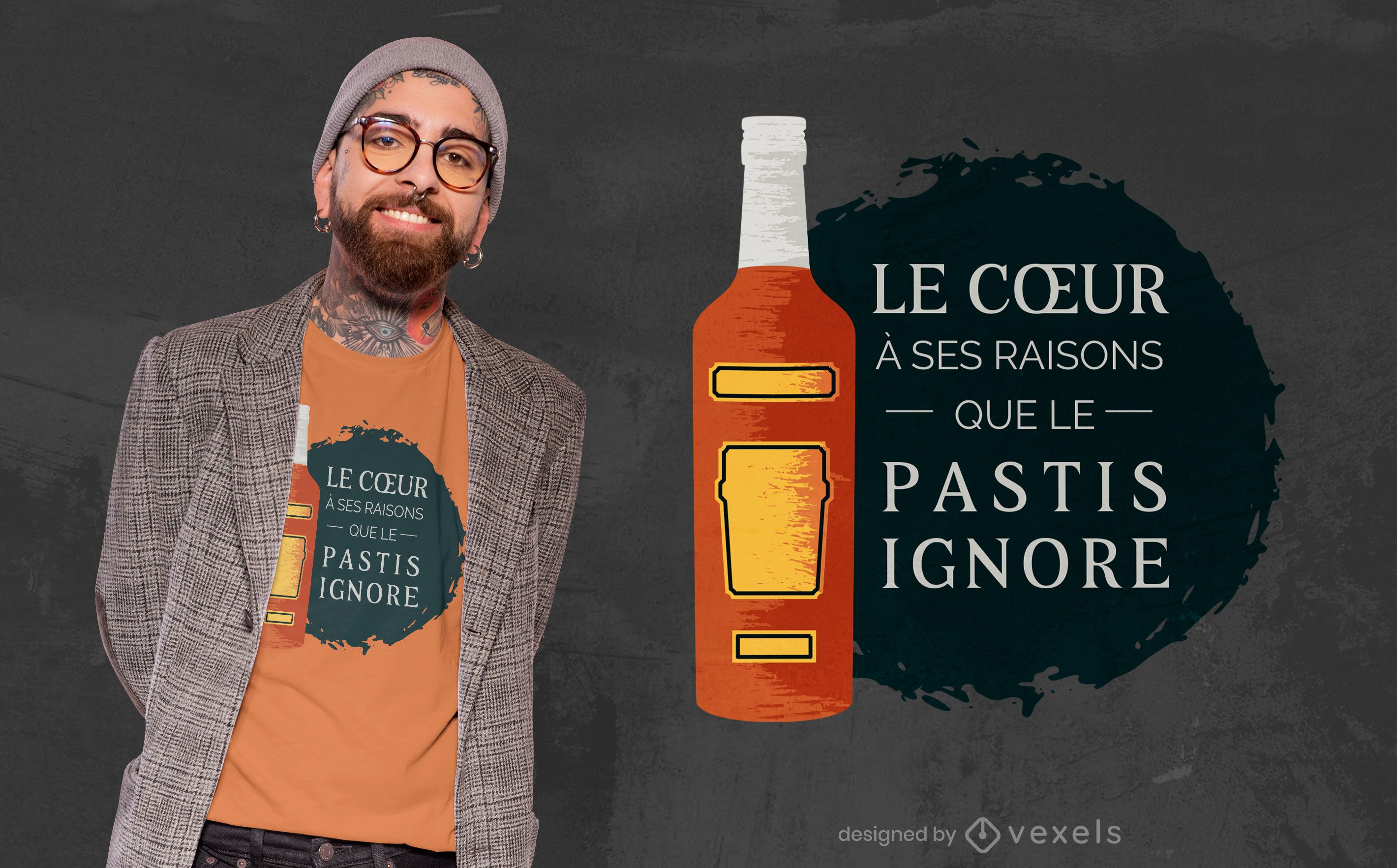 French drink pastis quote t-shirt design