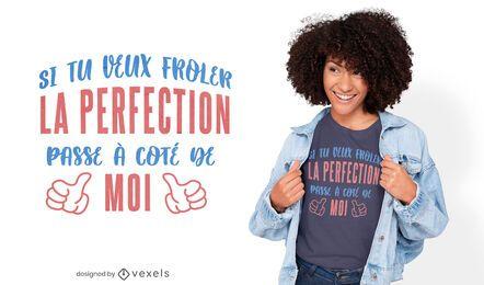 Design perfeito de t-shirt com citações francesas