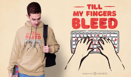 Computer typing programmer t-shirt design