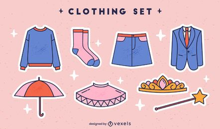 Conjunto de roupas formais e fantasias femininas