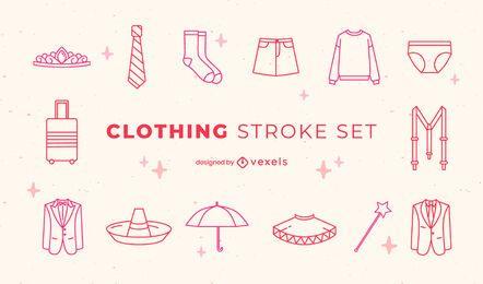 Formelle Kleidung und Kostüme Strichzeichnungen