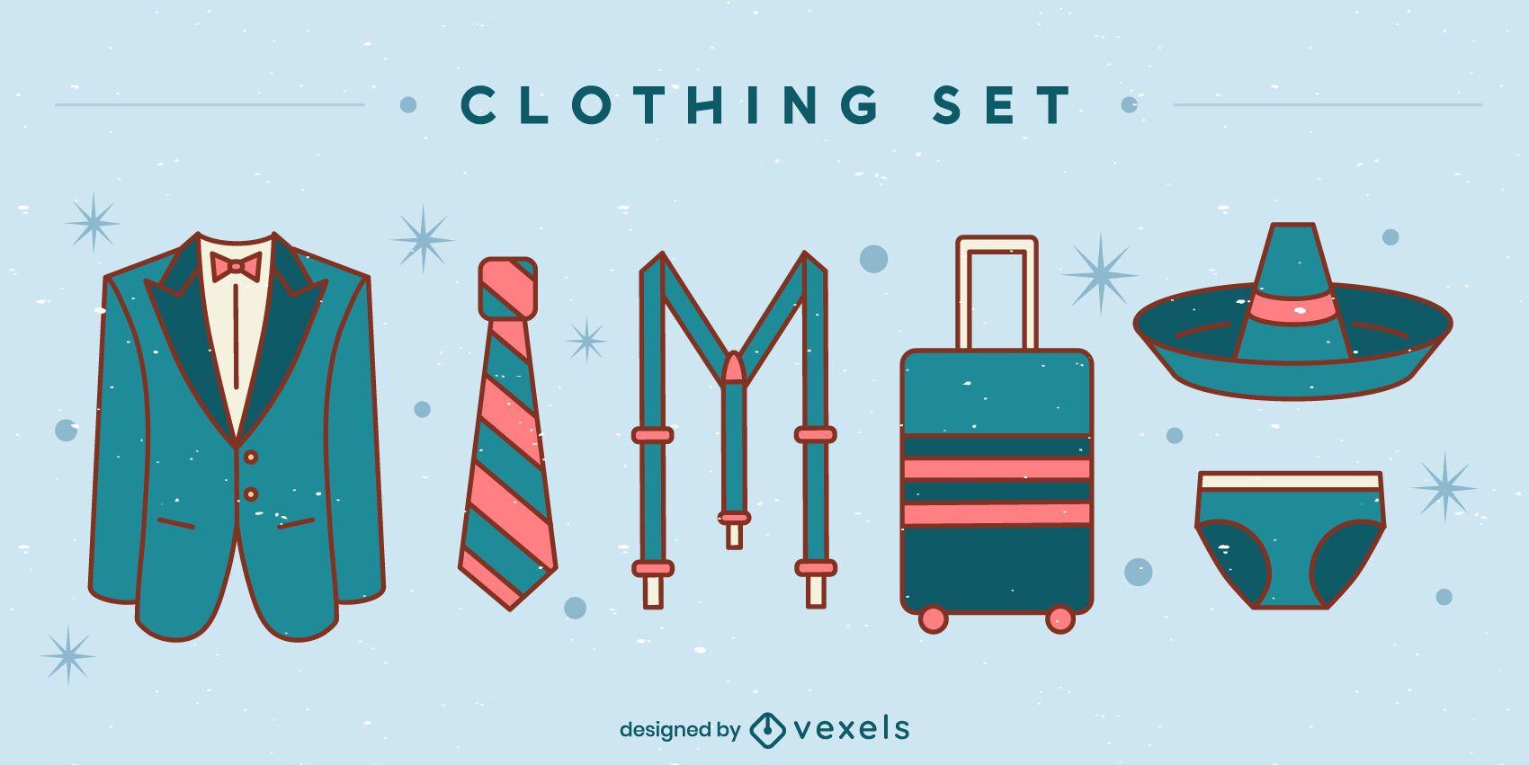 Conjunto de ropa formal de viaje