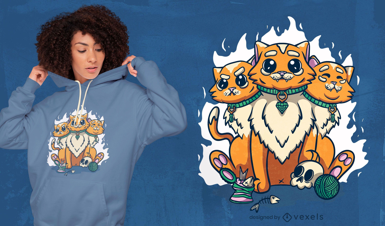 Cat esoteric creature t-shirt design