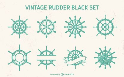 Conjunto de elementos de corte de rueda de timones de barco