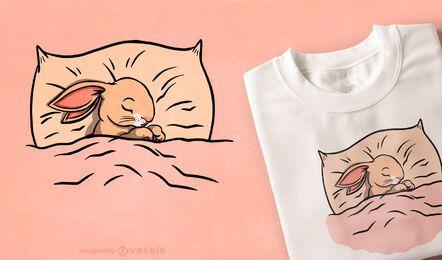 Design de camiseta para dormir de coelhinha fofa