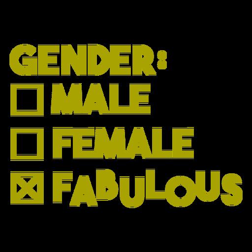Gender fabulous badge