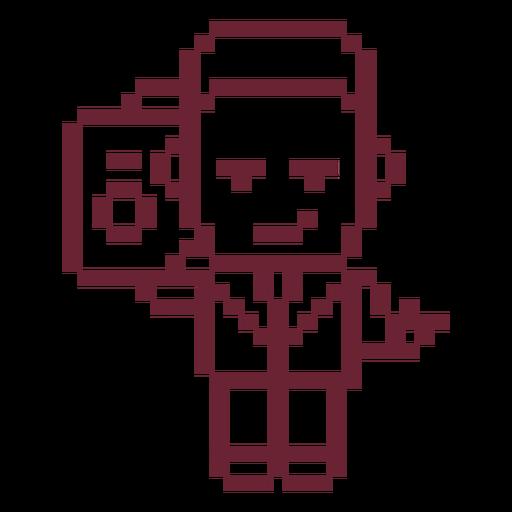 Boombox boy pixel art