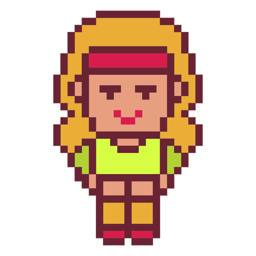 Sports girl pixel art