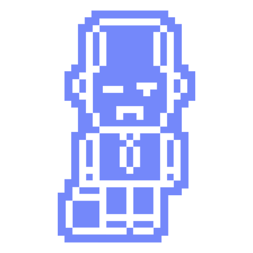 PixelArt-Personajes-Vinilo-invertido de los 80 - 0