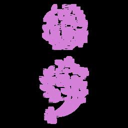 Flowers semicolon filled stroke