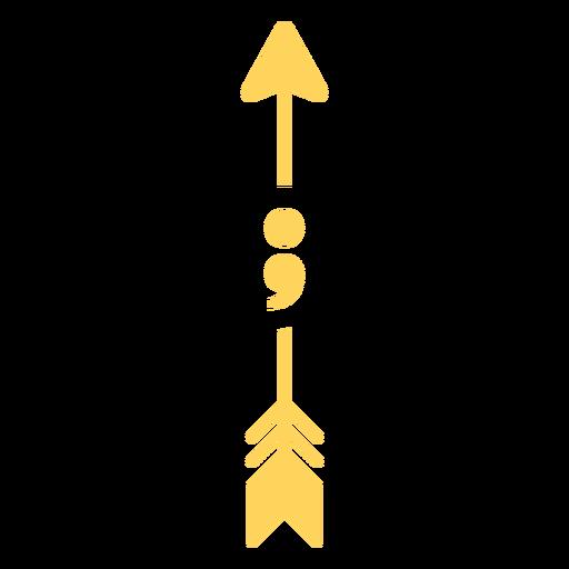Arrow semicolon flat