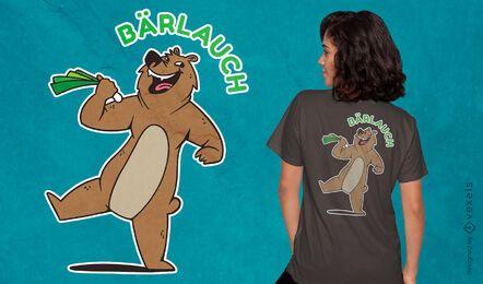 Design divertido de camisetas de urso rindo