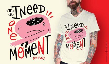 Diseño de camiseta de inspiración de criatura abstracta