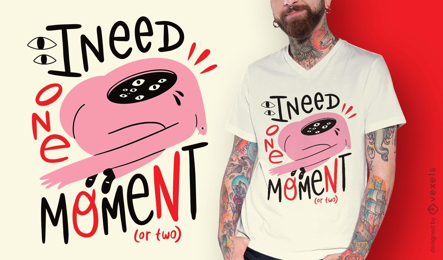 Desenho de camiseta inspirada em criatura abstrata